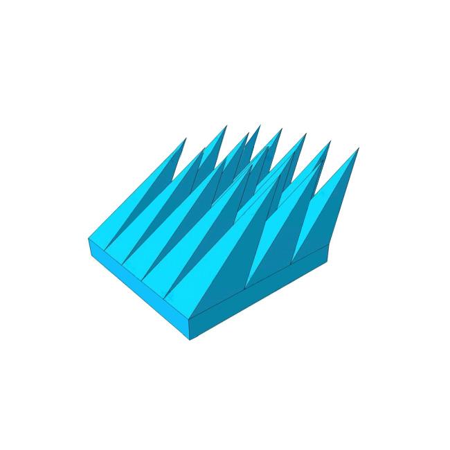 SAX泡沫斜角锥吸波材料