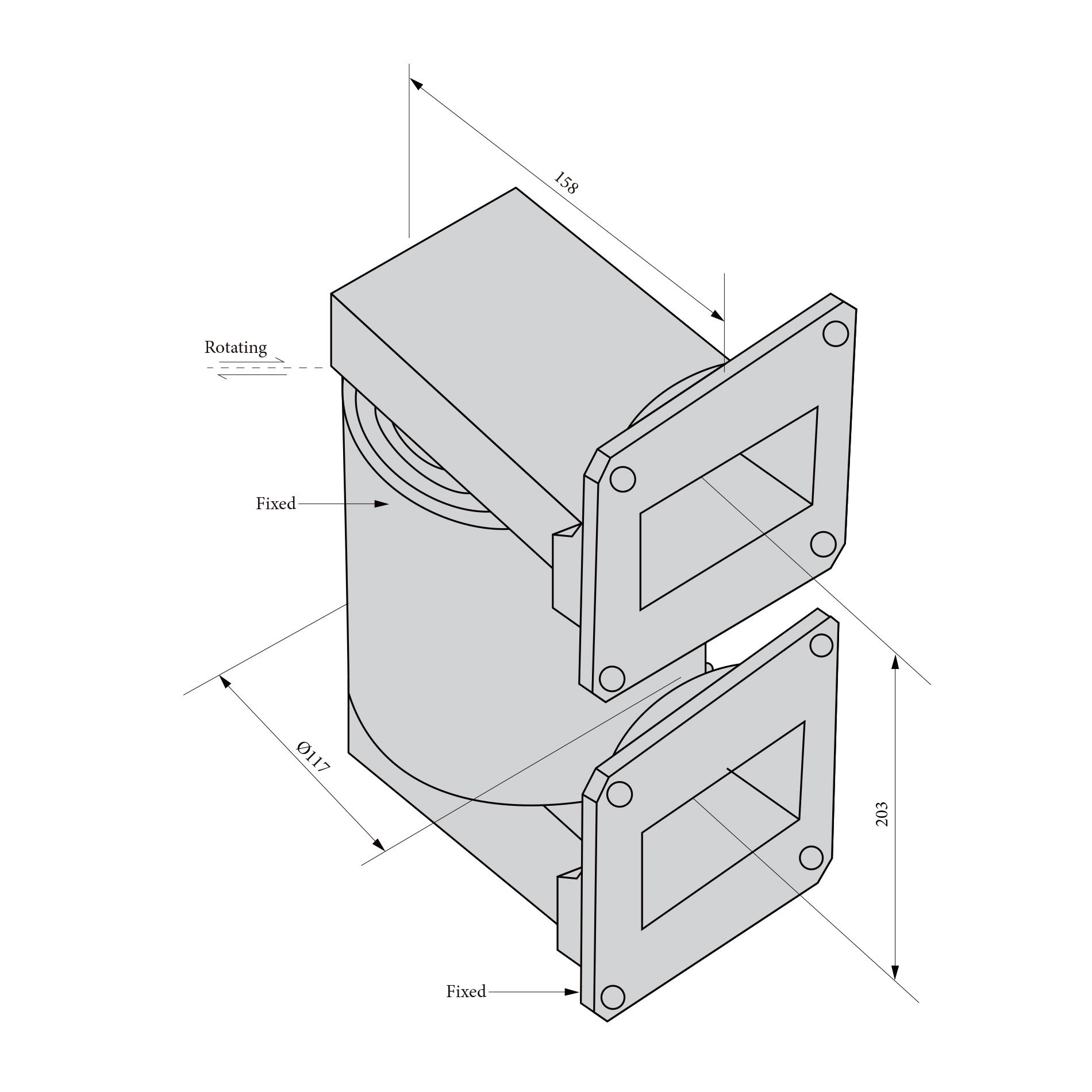 单路波导旋转关节RJ153132  2.7 - 3.2 GHz FDP32接头